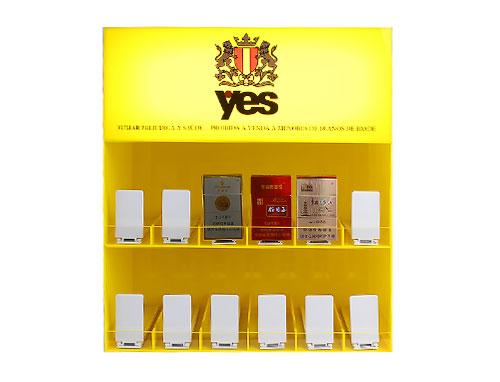 电子烟-黄色亚克力展示架